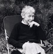 Portrait of Shelia Watson sitting down