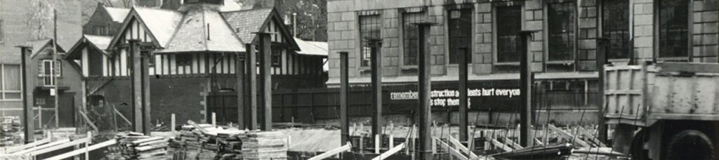St. Michael's library construction, 1968